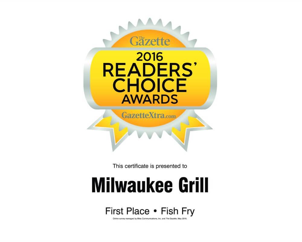 Best Fish Fry | 2016 Janesville Gazette Readers Choice