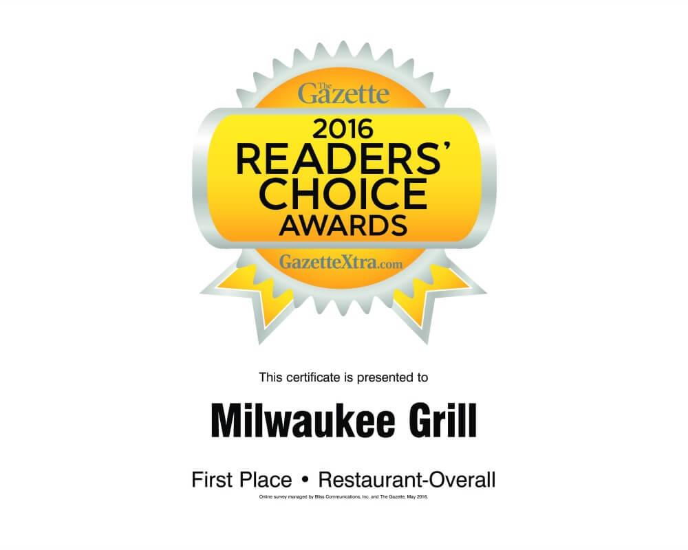 Best Restaurant | 2016 Janesville Gazette Readers Choice